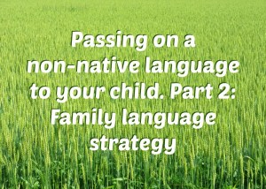Passing on a non-native language to your child, part 2: Family language strategy