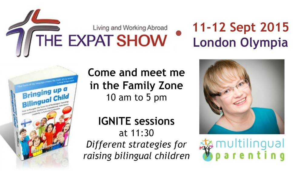 Multilingual Parenting at the Expat Show 11-12 September at London Olympia