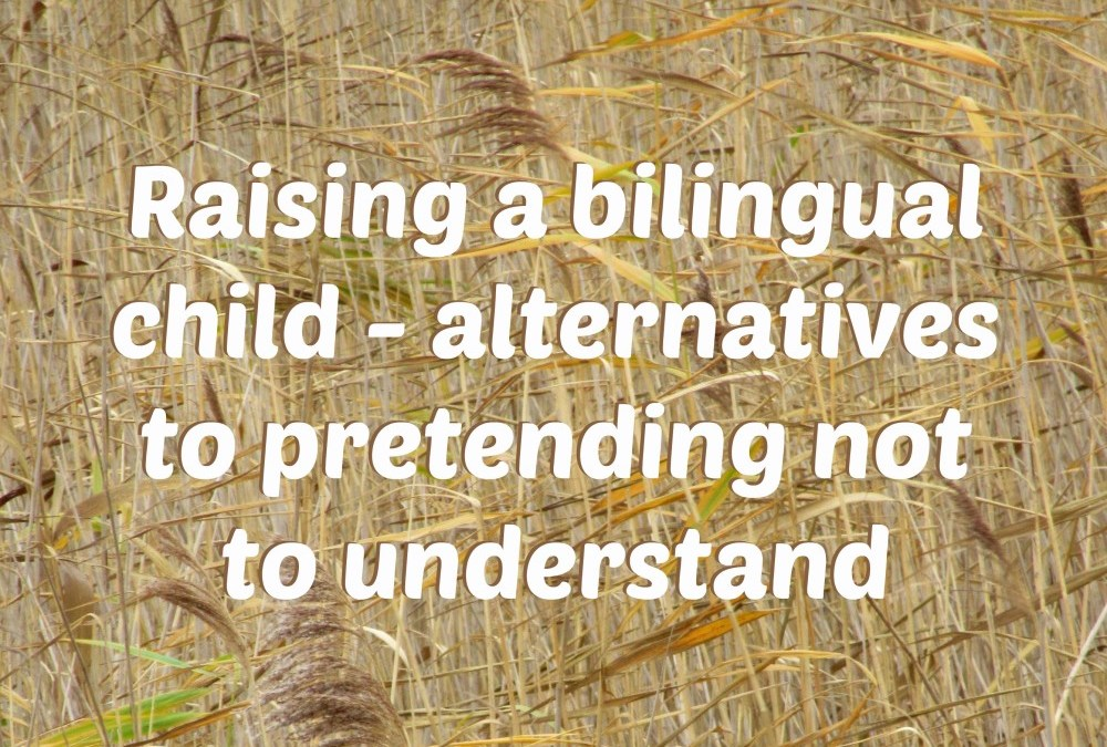 Raising a bilingual child: alternatives to pretending not to understand