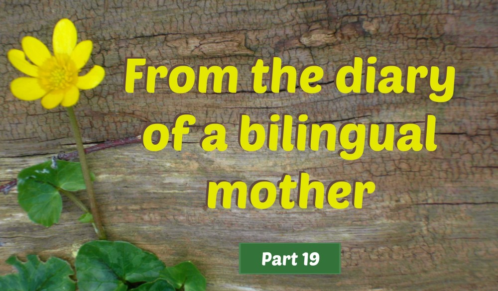 From the diary of a bilingual mother, part 19