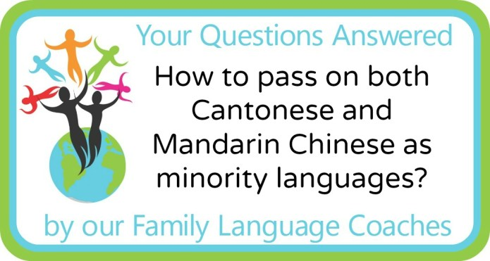 How to pass on both Cantonese and Mandarin Chinese as minority languages?