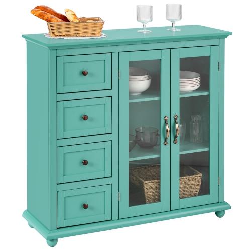 Costway Buffet Sideboard Table Kitchen Storage Cabinet W Drawers Doors Best Buy Canada