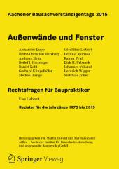Aachener Bausachverständigentage 2015