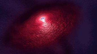 Este fenómeno se le conoce como disco de repliegue de supernova Foto: NASA