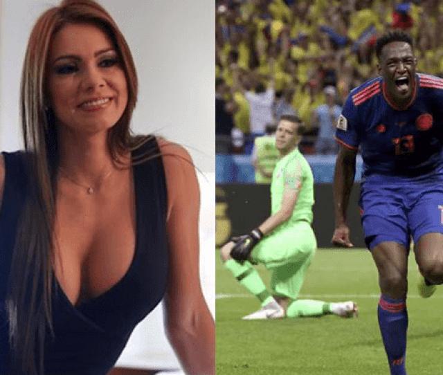 Twitter La Euforica Celebracion De Esperanza Gomez Tras El Triunfo De Colombia Sobre Polonia Rusia  Fotos Viral Espectaculos Larepublica Pe
