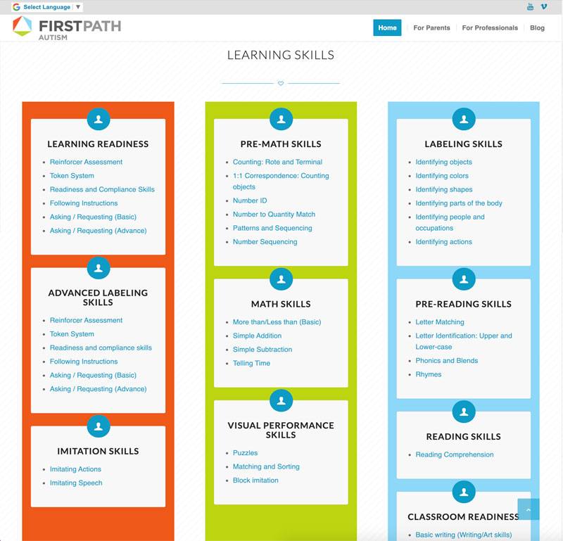 Firstpath Autism Website