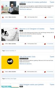 Portfolio Samples from the Web Developer Magazine.