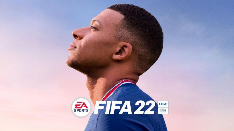 FIFA 22, Kylian Mbappé in an official artwork.
