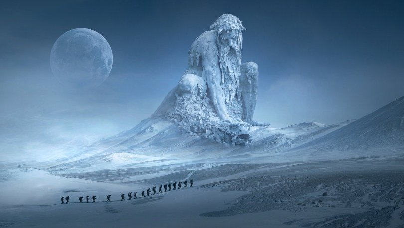 ice giant winterscape dungeons dragons