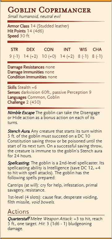 goblin coprimancer shit wizard D&D 5e