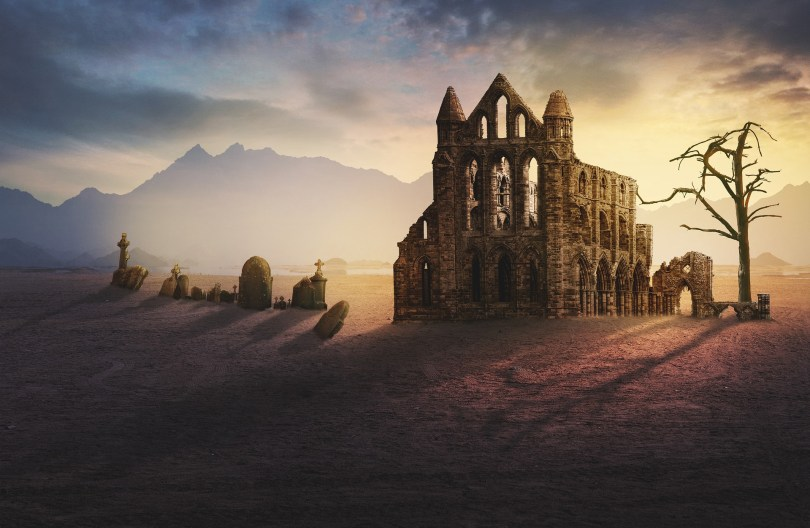 ruined temple post apocalyptic dungeons dragons