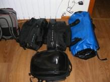 The luggage setup.