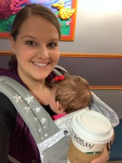 Starbucks and some quiet time in the Baby Station.