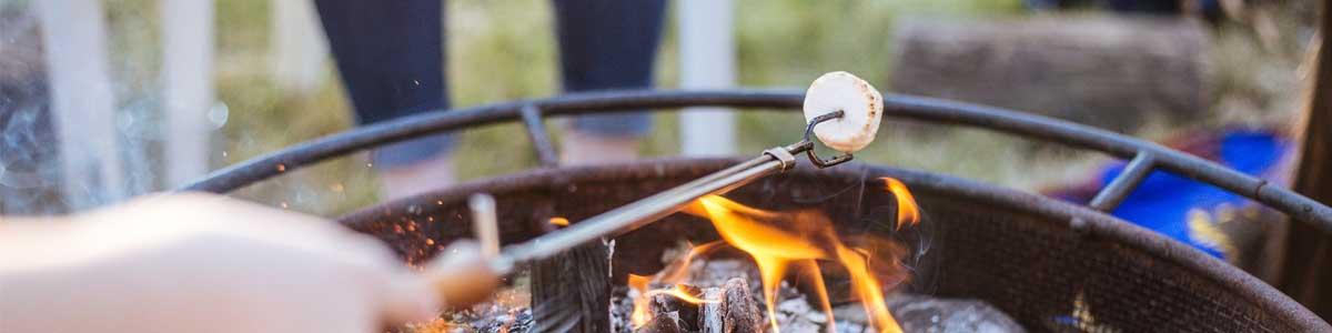 Roasting marshmallows with neighbors