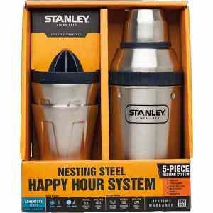 Набор Stanley Happy Hour System (шейкер 0.59л + 2 стакана х 0.2л + пресс для цитрусовых) стальной