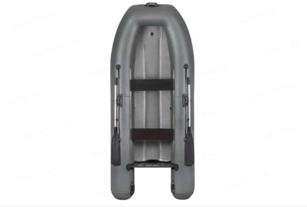 Лодка надувная моторная со сплошным аирдеком на днище и гидролыжей Parsun Air 340 grey