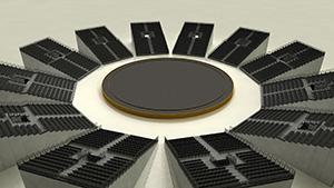 Multifunktionelle Halle - Arena Variante