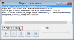 Players Control Center - Apply to all players