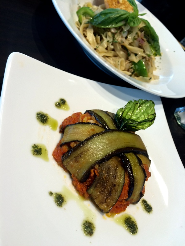 Eggplant Melanzane and the Tartufo Mushroompasta