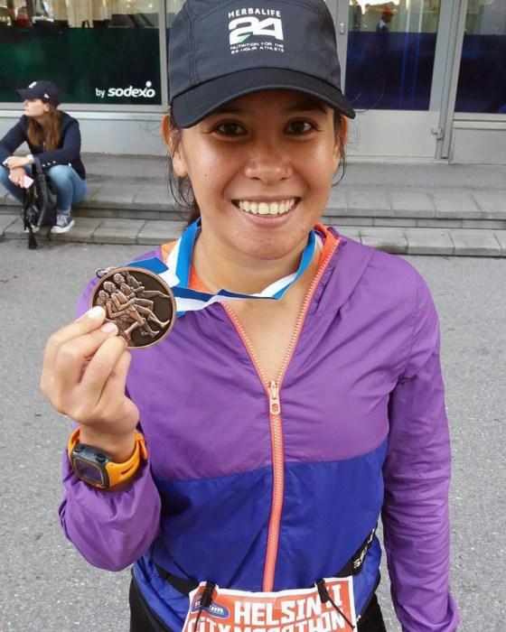 Laarni Paredes in helsinki marathon
