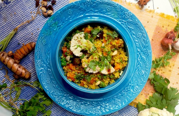 Recipe: A vitamin-packed cauliflower rice biryani