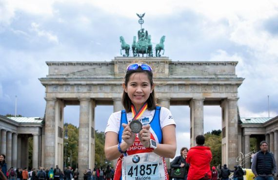 This triathlete raised $3,864 for cleft charity after finishing Berlin…