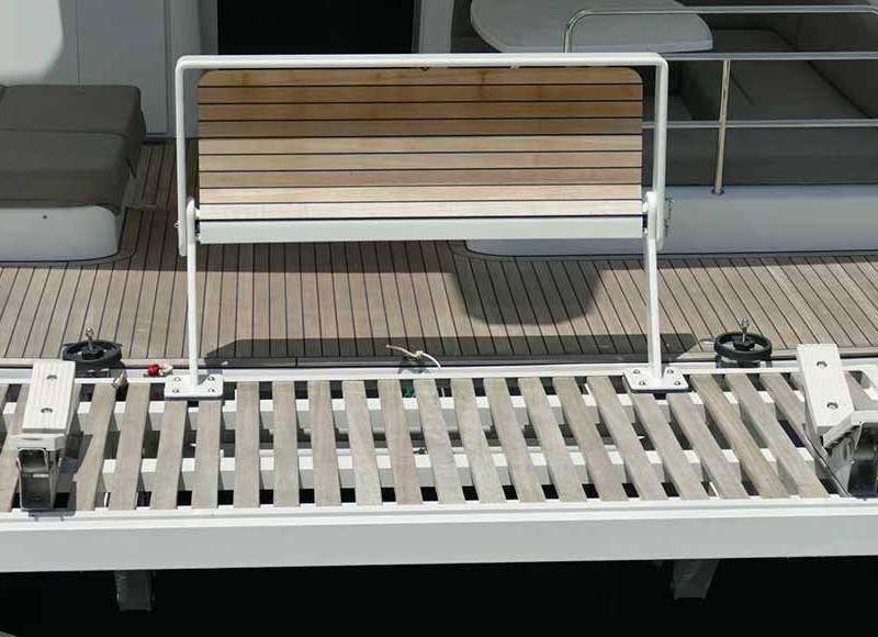 Custom Built Bench for Catamaran Aft Deck built by Multitech