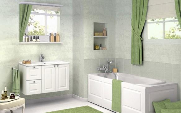 Bathroom-Design-ideas-with-Green-Curtain