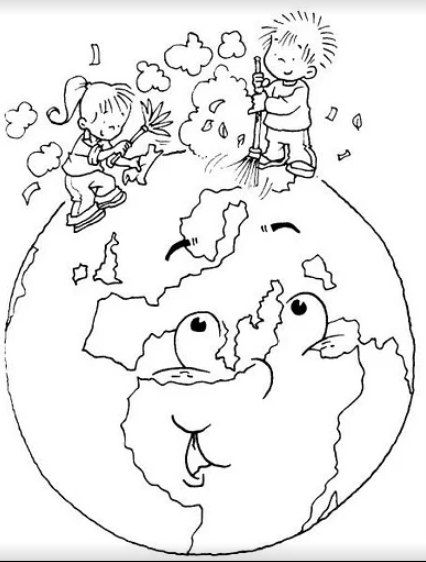 """Раскраски на тему """"Берегите природу"""" 2 - Всем учителям"""
