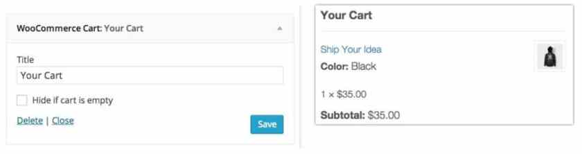 WooCommerce Cart