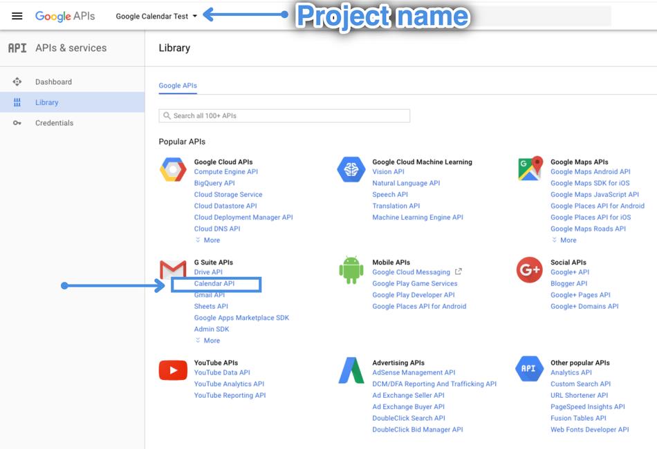 Google calendar API
