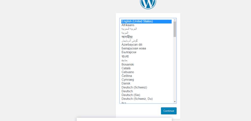 Open WordPress