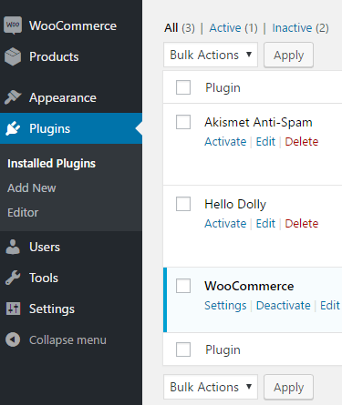 WooCommerce Plugin list