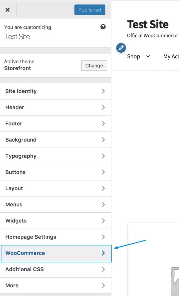 Manage Customizer in WooCommerce