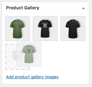 Re-order product galleries