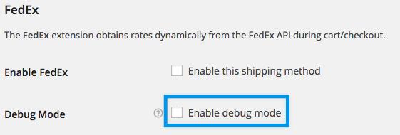 Fedex online calculator settings