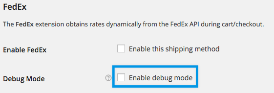 Fedex online calculator settings