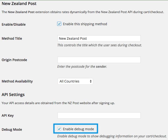 Shipping New Zealand settings