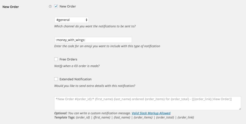 WooCommerce Slack New Order