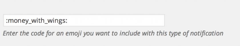 WooCommerce Slack Notification Emoji