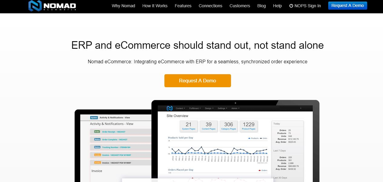 Laravel eCommerce vs Nomad eCommerce: Details Comparison