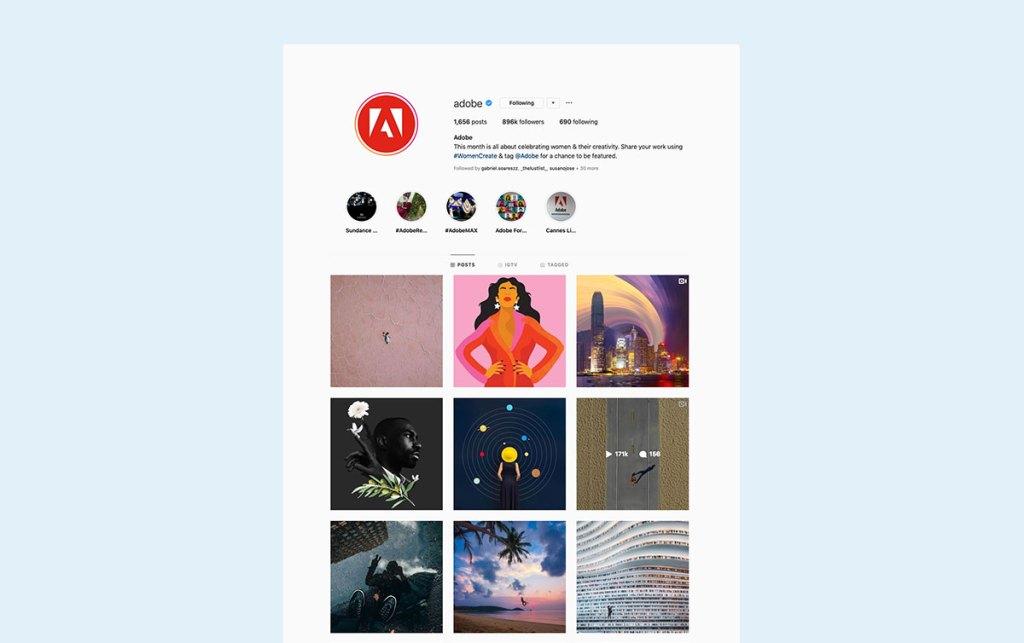 Adobe b2b sales instagram marketing