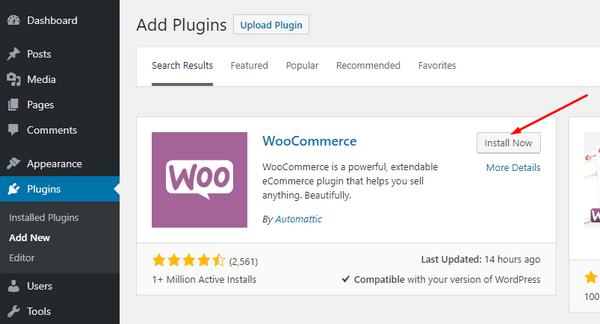Install WooCommerce