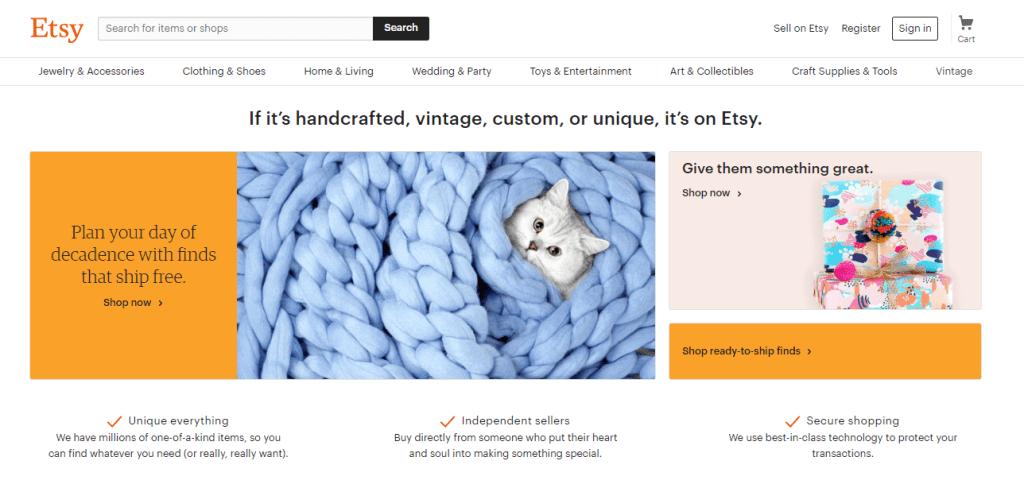 Etsy eCommerce Slogan