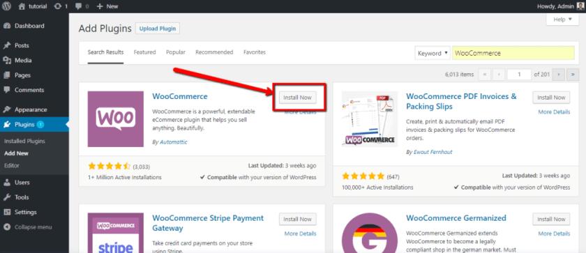 Install WooCommerce to create Multi-vendor Store
