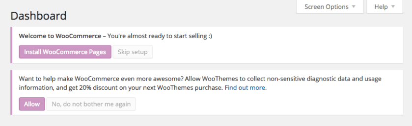 WooCommerce Installation Message to Sell Digital Courses Online
