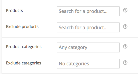Add New Coupon for Specific Categories
