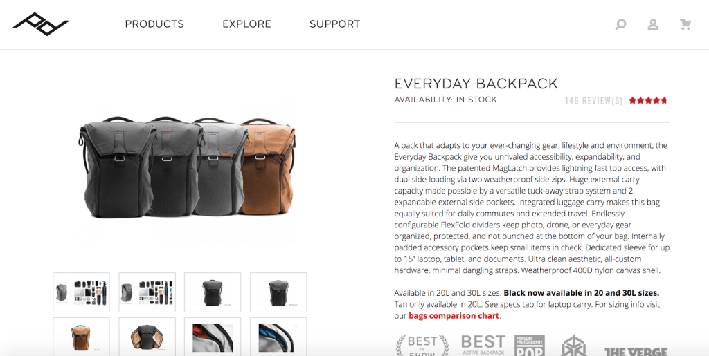 Product Description for Bags
