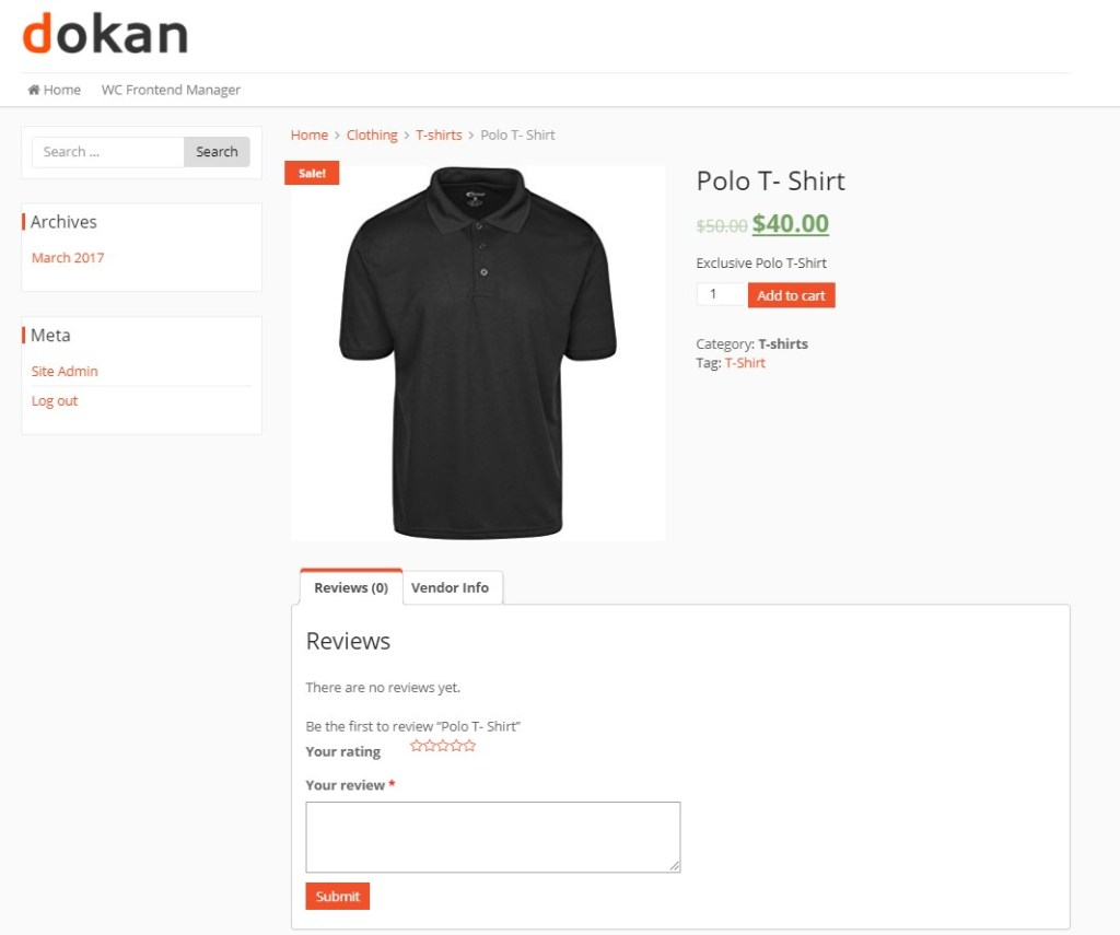 View Product After Adding to your Online Clothing Store Marketplace