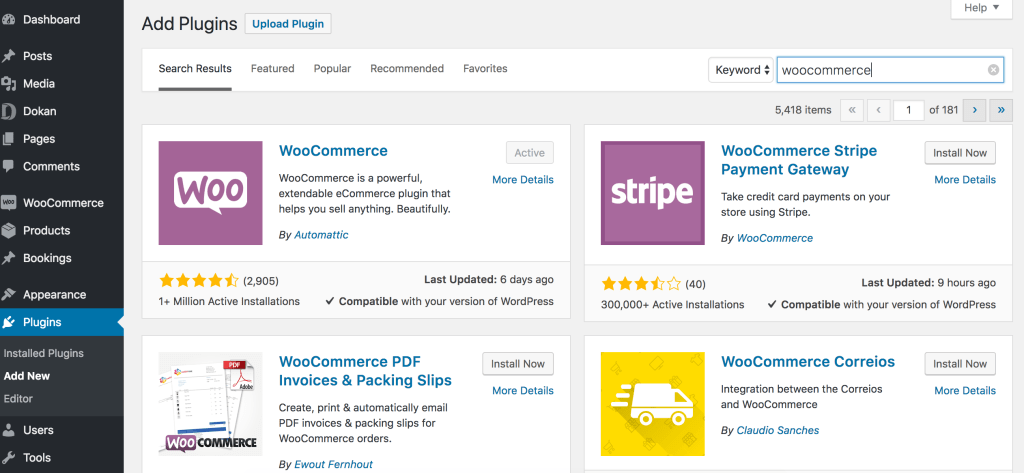 WooCommerce Install to create Online Book store